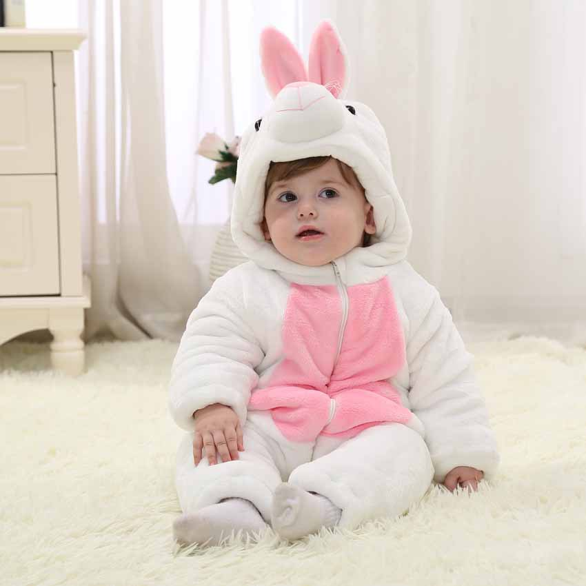 2017 new fall infant toddleradorable baby clothes white bunny romper baby costumes halloween party costumes for baby rosemary wells bunny party