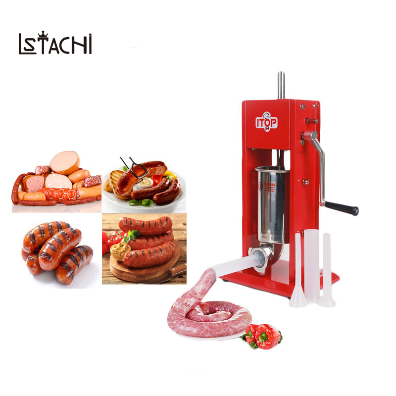 LSTACHi Food Machine 3L Big Sausage Maker Manual Sausage Stuffer Machine Making Filling Vertical Sausage Filler Meat Processor
