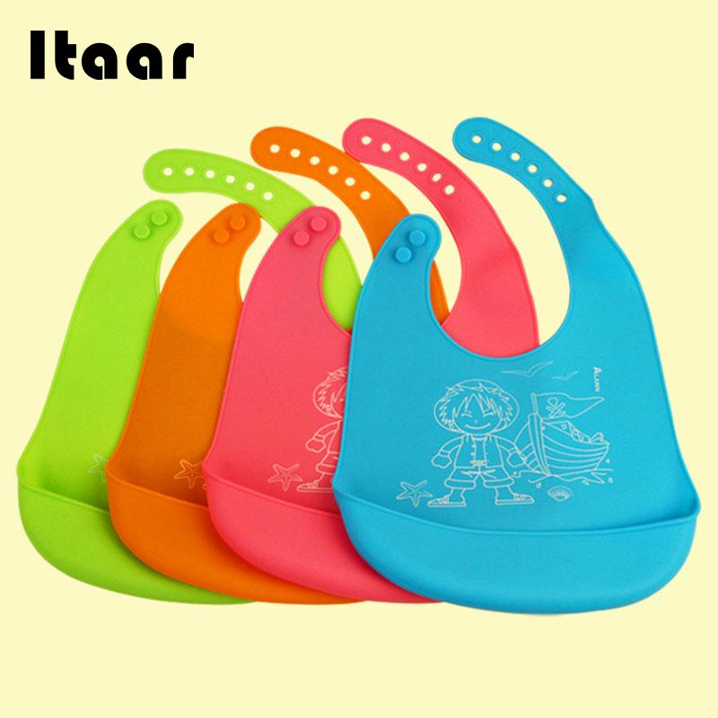 Baby Kids Silicone Stereo Bib Adjustable Waterproof Bibs Pick Rice Pocket