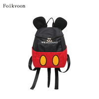 Foikvoon Cute Child Backpack Boy Fashion Mickey Baby Backpack Cartoon Small Class Children Backpack For Girl Boy