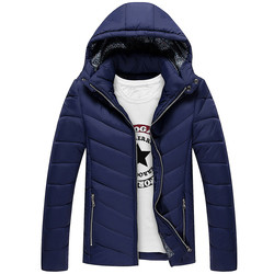 Men coat 2016 winter solid casual hooded thick warm coat men s stand collar slim fit.jpg 250x250