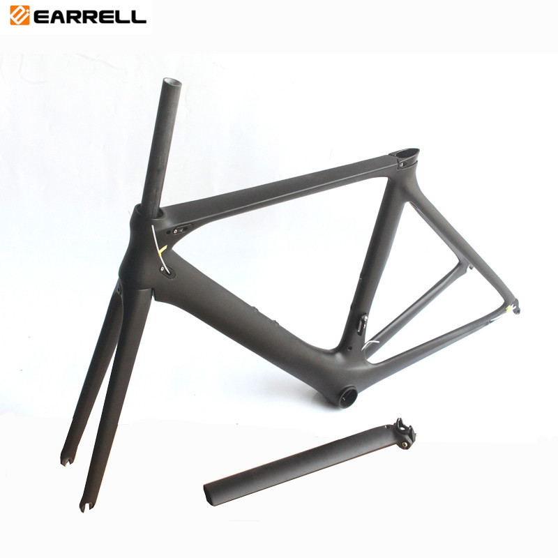 Carbon Road Bike Frame brompton Di2 and Mechanical 50/53/56mm Super Light fat bike Frame bike/bicycle frame track frame fixed gear frame bsa carbon 1 1 2to 1 1 8 bike frameset with fork seatpost road carbon frames fixed gear frameset