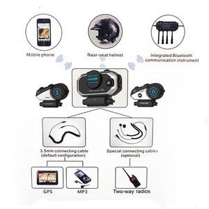 Image 2 - Angielska wersja Easy Rider Vimoto V8 zestaw słuchawkowy Bluetooth do kasku motocykl słuchawki Stereo do telefonu komórkowego i Radio GPS