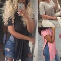 women pure T shirt camisas femininas European basic 2016 summer style short sleeve O-Neck Shirts Loose casual tops