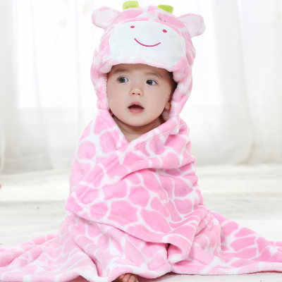 Hooded animal baby blanket newborn / baby bath towel /baby bathrobe cloak lovely soft sleeping bag swaddle B1TRQ0005