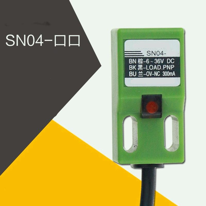 5 шт. индуктивный датчик приближения SN04-N SN04-P NPN 3 провода без расстояния обнаружения 4 мм DC 6-36 в датчик приближения