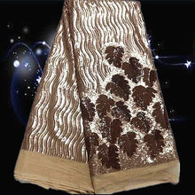 Item No.SSN14 pretty design ON SALE african net ace latest 2015 with sequins