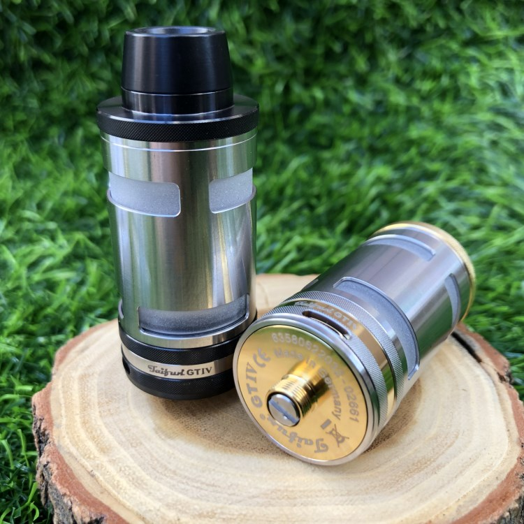 TF GT4 25mm 316SS Taifun RTA Rebuildable Tank Atomizer 5.0ML Electronic Cigarette Vape Tank Vaporizer Glass Vs Taifun GTR Gt3 4