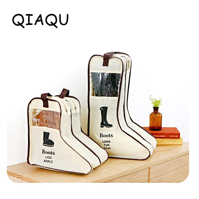 QIAQU Travel Accessories Portable High Quality Men And Women Visualization Collapsible Storage Bag Zipper Shoe Bag Boot Bag