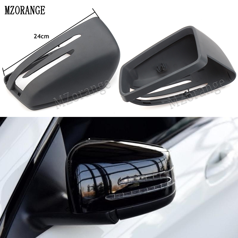MZORANGE For Mercedes Benz W204 W212 W221 Black Car side Door Rearview Mirror Cover Trim Cap Frame For Benz E C S Class car pendant handicraft dreamcatcher feather hanging car rearview mirror ornament auto decoration trim accessories for gifts 30cm