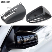 MZORANGE For Mercedes Benz W204 W212 W221 Black Car side Door Rearview Mirror Cover Trim Cap Frame For Benz E C S Class