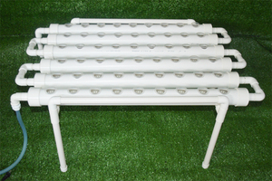 Image 2 - 54 Holes Hydroponic Piping Site Grow Kit Deep Water Culture Planting Box Gardening System Nursery Pot Hydroponic Rack 220V