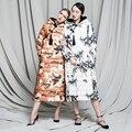 Estilo chino del cheongsam de la vendimia 2016 de invierno Chaqueta de Las Mujeres chaquetas de Las Mujeres prendas de vestir exteriores larga Pato abajo Abrigos Parka