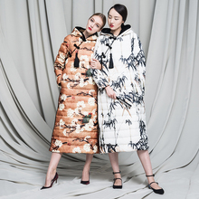 chinese style vintage cheongsam 2016 winter Jacket Women down jackets Women's outerwear long Duck down coat Coats Parka