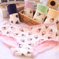 [Quecoo] strawberry ice cream cone comunidade nova fêmea underwear senhoras underwear calcinhas de algodão de algodão