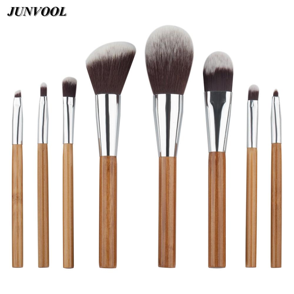 Pro Bamboo Handle Makeup Brushes Set Kits 8Pcs/set Powder Foundation Eyebrow Facial Multifunction Brush Beauty Make Up Tool Pop multifunction liquid foundation brush pro powder makeup brushes set best selling make up tool 2016