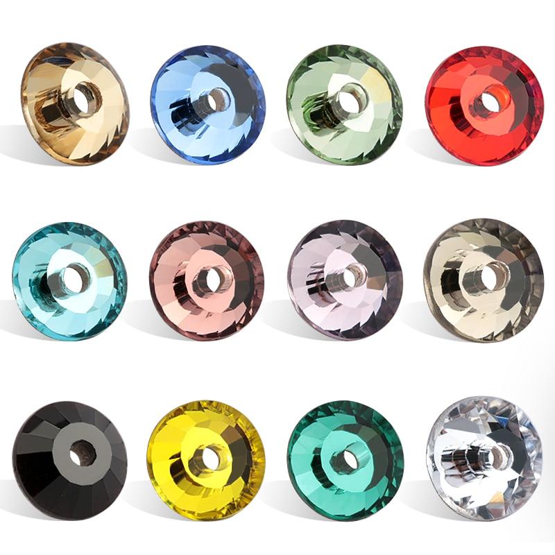 Qiao aaaaa SS12-SS30 cristal de vidro redondo costura strass costurar em flatback strass 1 buraco para acessórios vestido casamento diy