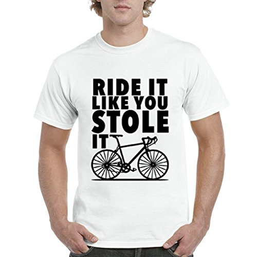 Funny Graphic T Shirts Short Sleeve Top O Neck Womens Ride It Like You Stole It