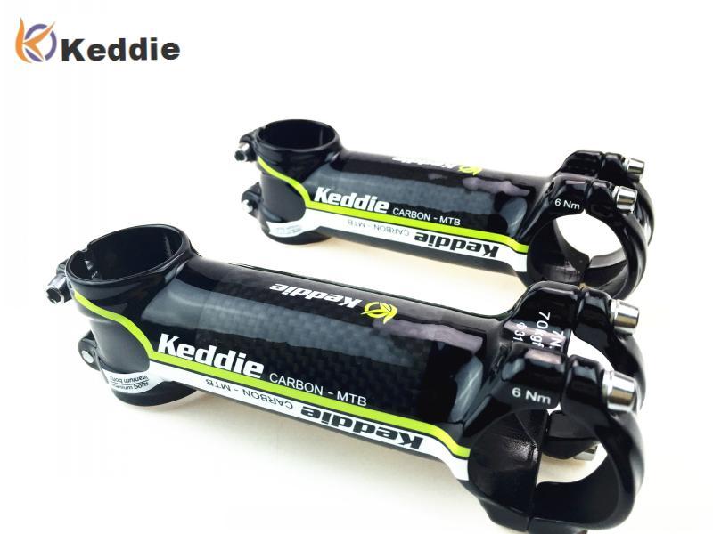Keddie Road Bike MTB Vástago del manillar Fibra de carbono Aleación de aluminio MTB Bicicleta de montaña Vástago de carbono Ciclismo Piezas de bicicleta 31.8mm