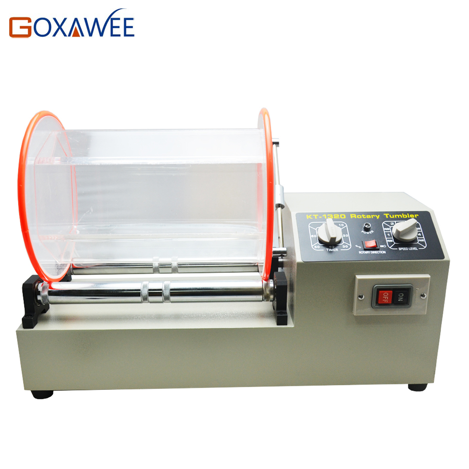 цены  GOXAWEE 11kg Rotary Tumbler Rotary Finishing Tools Jewelry Polishing Machine Rock Barrel polishing machine 220V Jewelry Tools