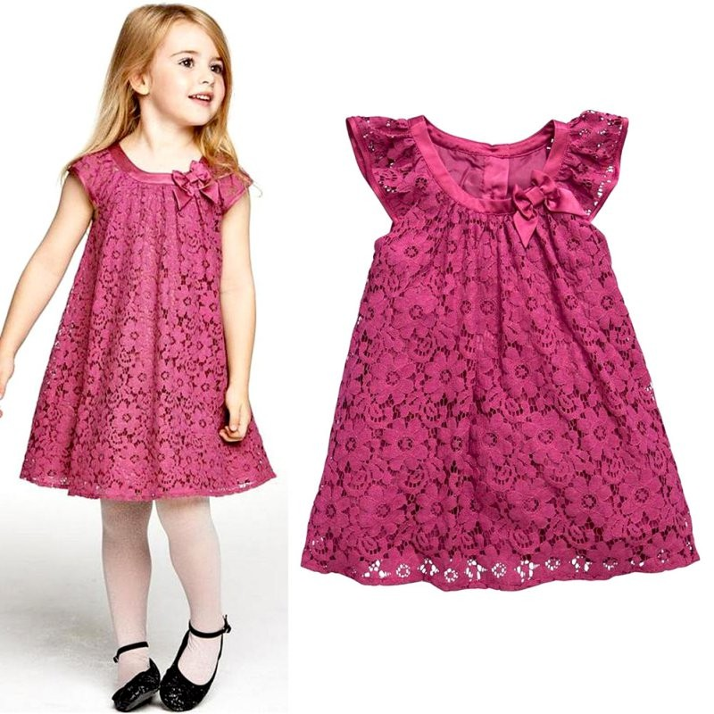 Lace Girls Dress Summer Dresses For Girls Sweet Children Clothing Infantil Vestido Sundress Child Costume Fashion Kids Clothes