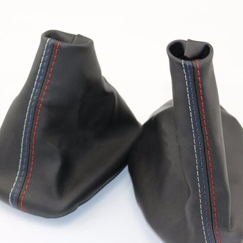 Dewtreetali Manual Car Gear Shift Collar skórzany hamulec ręczny osłona buta Case dla BMW E46 3 Series E36 M3(1991-1998) tanie i dobre opinie CN (pochodzenie) Q2117-01 Iso9000 2017 PU Leather Black Gear Shift Cover Handbrake Cover For BMW 3 Series E36 (1991-1998)