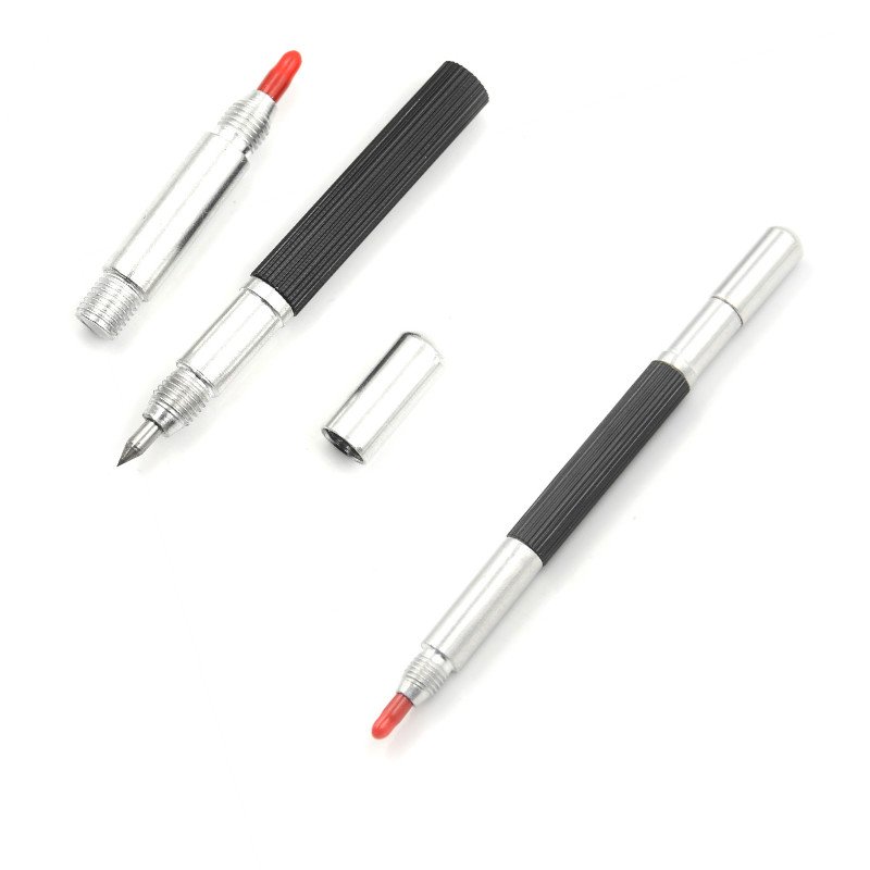 145mm Tungsten Steel Tip Scriber Clip Pen Ceramics Glass Shell Metal Construction Marking Tools BS