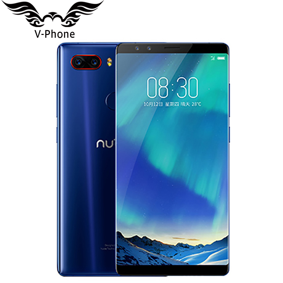 2017 New Original ZTE Nobia Z17S Mobile Phone With 4 Cameras 2040x1080 Full Screen 6/8GB RAM 64/128GB ROM Phone Snapdragon 835