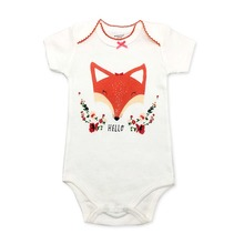 2019 Brand New 0-24M Newborn Infant Kids Baby Girls Boys Solid Ribbed Bodysuits Short Sleeve Knit Solid Jumpsuit Summer Clothes