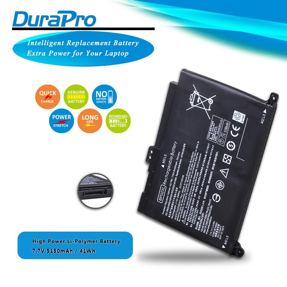 7,7 V 41wh 5150mAh BP02XL batería de ordenador portátil para HP pabellón PC 15 15-AU 849909-850 (F9-21) 849569-421 HSTNN-LB7H BP02041XL portátil