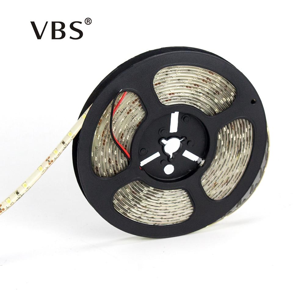 Tira de Led resistente al agua Tira de Led de 5730 SMD DC12V IP65 blanco cálido 5M 60Leds/m más brillante que la Tira de Led 12V 5630 2835 Tira LED SMD 2835 · Tiras LED flexible impermeable IP67 Chip LED 2835 con transformador