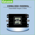 Tamanho Mini Display LCD Duplo Ganho 65dB Dual Band Sinal reforço GSM 850 MHz & 900 MHz CDMA sinal de telefone celular GSM repetidor