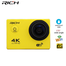 Discount! RICH Digital Action Camera F60 4K FHD 1080P WIFI Mini Waterproof Outdoor Sport Self Stick Video cam For xiaomi Android I Phone