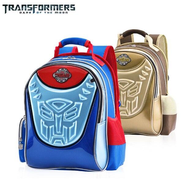 462ed4aefe91 TRANSFORMERS cartoon safety school bag books bag shoulder backpack  portfolio for boys Grade 1-3