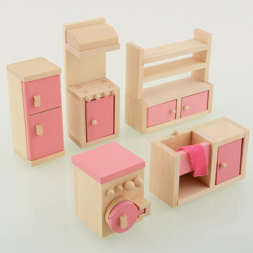 Child craft wooden blocks - Wooden Doll Kitchen House Dollhouse Miniature Set For Kids Child Craft Free Shipping In Furniture Toys From Toys Hobbies On Aliexpress Com Alibaba Group