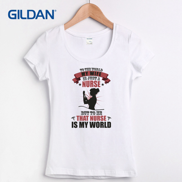 b2650479859 Interesting t-shirt womens plus size tee shirts Ladies Nurse Wife clothing  O-Neck