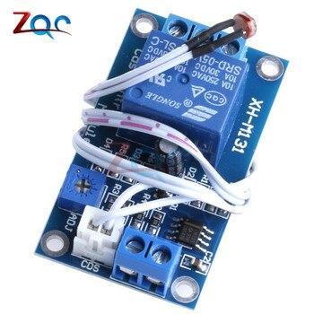 XH-M131 DC 5V / 12V przełącznik światła fotorezystor wykrywanie modułu przekaźnikowego czujnik 10A jasność automatyczny moduł sterujący