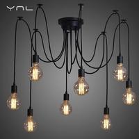 Modern Retro Edison Bulb E27 DIY Art Spider Pendant Lights 2 Meters Line Vintage Hanging Lamps
