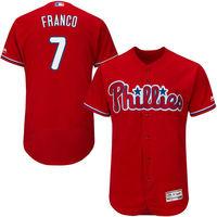 MLB Men's Philadelphia Phillies Maikel Franco Baseball Scarlet Alternate Flex Base Authentic Collection Player Jersey