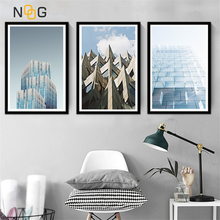 NOOG Architecture Building Landscape Wall Art Canvas Painting Nordic Posters And Prints Pictures For Living Room Decor