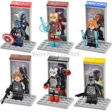 Única Venda Capitão América Figura Guerra Civil Winter Soldier Viúva Negra Homem De Ferro Blocos Marvel Herói Modelos Brinquedos