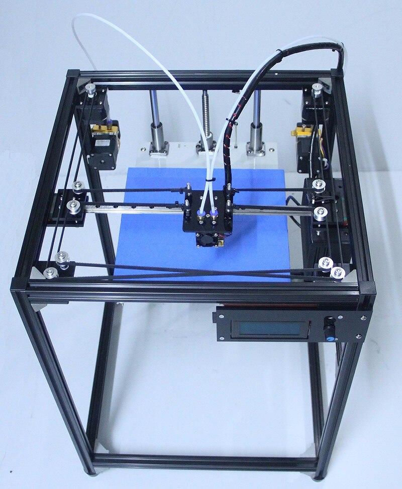 2017 big size corexy 3D Printer kit ifancybox Machine printer 3D Ramps black corexy Full Kit