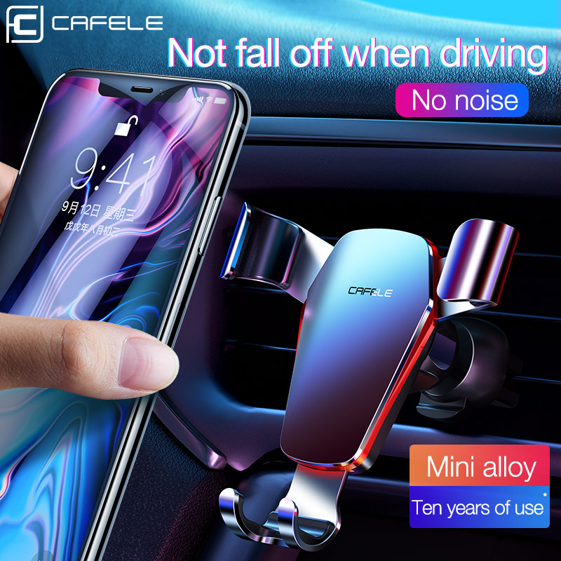 CAFELE Gravity Car Holder Phone Car Holder For IPhone Samsung Air Vent Holder 360 Rotation Aluminium Alloy Stand For Huawer
