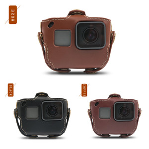 Image 5 - Protective case for Gopro Hero 7 6 Black Edition PU Leather Bag Case Protection for Go Pro Hero 7 6 5 Action Camera Accessories