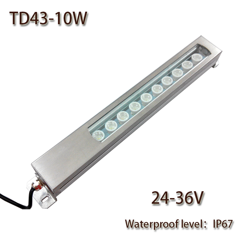 HNTD Led Panel Light 10W DC 24V/36V/48V Concentrating Metal LED work light waterproof IP67 CNC machine work tool lighting TD43