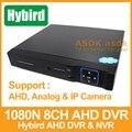 Ceia 1080N Hybird DVR H.264 8 Canais AHD DVR Gravador de Vídeo 8 Canais 1080 P NVR Para câmera de CCTV AHD Camera e Câmera IP