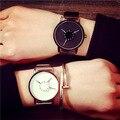 Дамы Кварцевые Часы Женщины Простые Повседневные Платья женские часы черный вист часы 2016 montre femme марки de luxe