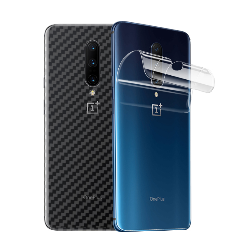<font><b>3D</b></font> Carbon Fiber Sticker For <font><b>OnePlus</b></font> 7 Pro Leather / Wood Skins Phone Back Cover Sticker For One Plus 7 6T 1+<font><b>6</b></font> A6000 Back Sticker image