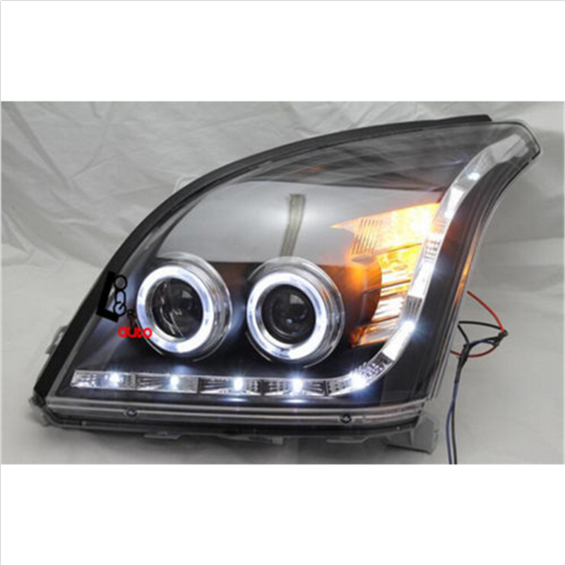 angel eyes led head lamp 2009 11 year tlz for hyundai sonata car styling LED Angel Eyes Headlights For TOYOTA FJ120 LC120 Prado 2700 4000 2003-2009 led head lamp