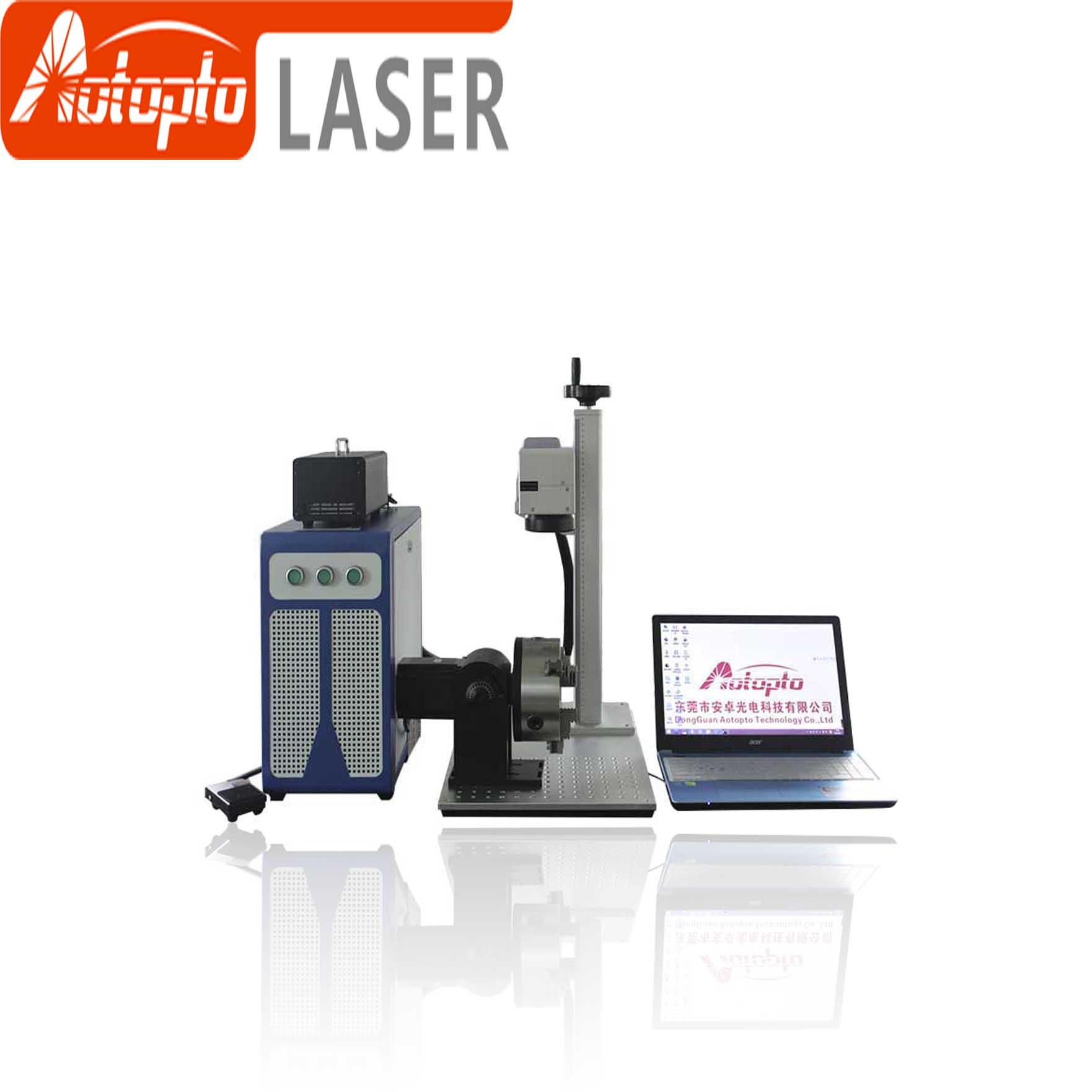 Factory price 20W 30W 50w fiber laser metal marking machine used for aluminum gold silver brass engraving for sale
